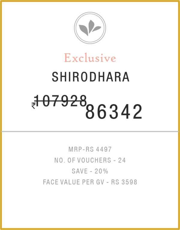 Shirodhara 12 Months Gold Membership Birla Ayurveda