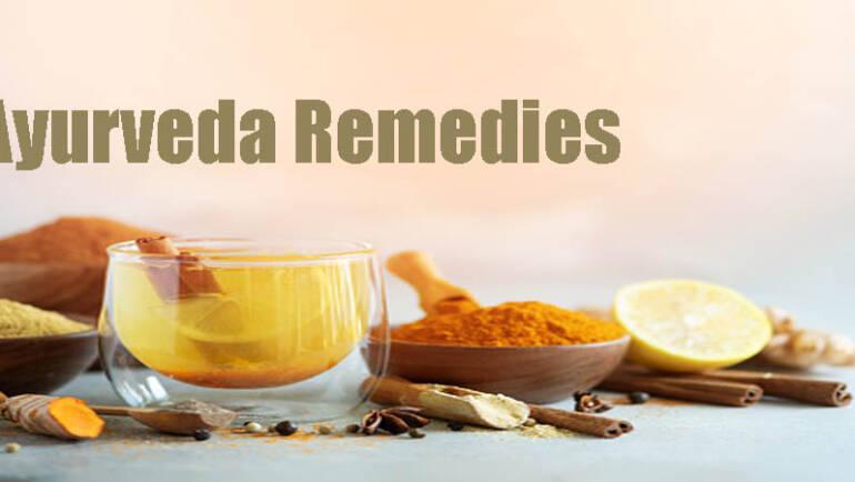 Ayurveda remedies like Herbs, medicine, roots & lemon