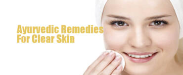 Ayurvedic Remedies for clear skin women rubbing the skin with hand