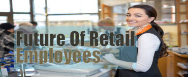 Future of retail employees women standing in office