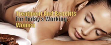 Women getting Ayurvedic massage & therapy by therapist